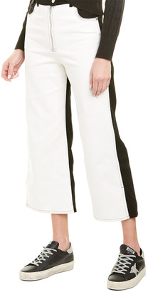 Veda Eclipse White & Black Straight Leg