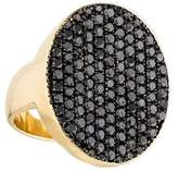 Jennifer Fisher Pavé Black Diamond Oval Signet Ring