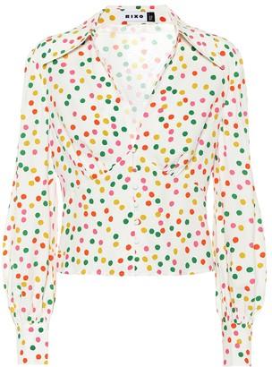 Rixo Daria printed crApe blouse