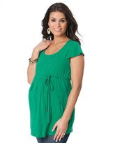 Oh Baby by motherhood pintuck top - maternity