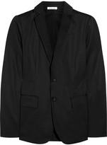 Tomas Maier Satin-trimmed cotton-gabardine blazer