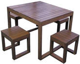 Exemplar 5 Piece Outdoor Table Set Variant: 4 Seater