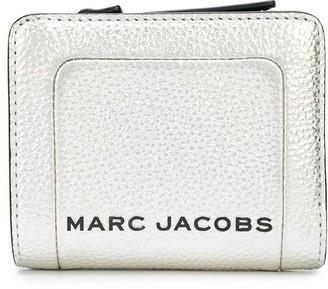 Marc Jacobs The Metallic Textured Box mini compact wallet
