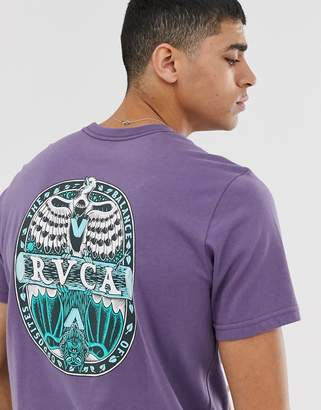 RVCA Opposite printed t-shirt in purple