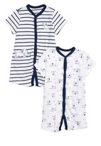 Little Me Infant Boy's Puppies Set Of 2 Rompers