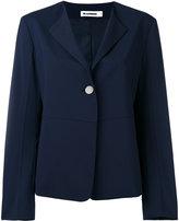 Jil Sander one button blazer - women - Silk/Polyester/Spandex/Elastane/Virgin Wool - 34