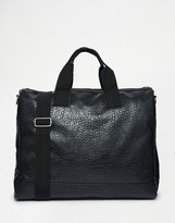 Asos Carryall In Textured Faux Leather