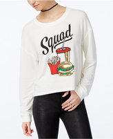 Hybrid Juniors' Squad Cropped Graphic Sweatshirt