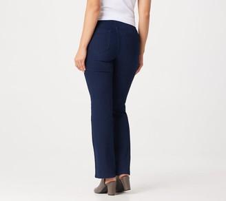 Denim & Co. Pull-On 5-Pocket Lightly Boot-Cut Jeans