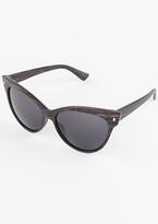 Missy Empire Saara Black Cat Eye Sunglasses