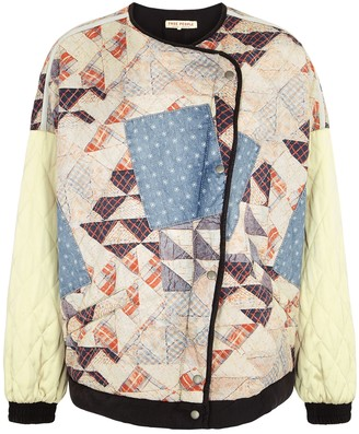 Free People Rudy quilted patchwork bomber jacket