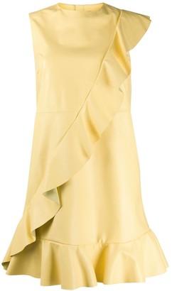 RED Valentino ruffled sleeveless mini dress