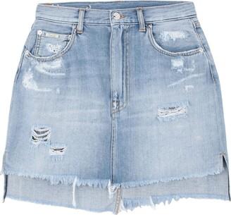 (+) People Denim skirts