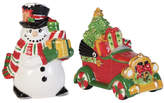 Fitz & Floyd Top Hat Frosty 2 Pieces Salt and Pepper Set
