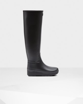 Hunter Women's Refined Slim Fit Creeper Knee-High Boots