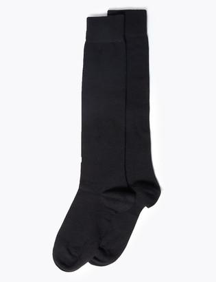 Marks and Spencer 2 Pack Soft Knee High Socks