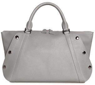Akris Aimee Small Bicolor Leather Satchel Bag