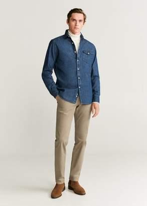 MANGO Slim fit chino premium trousers