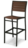 Polywood Euro Bar Height Patio Dining Side Chair - Black Frame