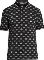 Dolce & Gabbana Crown-print cotton polo shirt