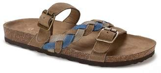 White Mountain Footwear Huntington Metallic Footbed Sandal