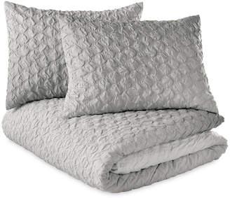 Microsculpt Ombre Honeycomb Full/Queen Duvet Set Bedding
