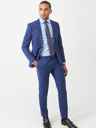 HUGO Arti Stretch Slim Fit Suit Jacket - Open Blue