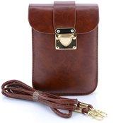 U-TIMES Women's Vintage PU Crossbody Cell Phone Pouch Mini Shoulder Bag Coin Purse