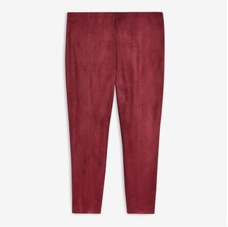 Joe Fresh Women+ Faux Suede Legging, Dark Red (Size 3X)