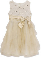 Rare Editions Lace-Bodice Glitter-Tulle Dress, Girls (7-16)
