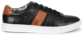 Robert Graham Attwood Leather Low-Top Sneakers