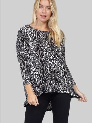 M&Co Izabel animal print high low jumper