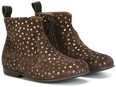 Pépé star print boots - kids - Calf Suede/Leather/rubber - 24