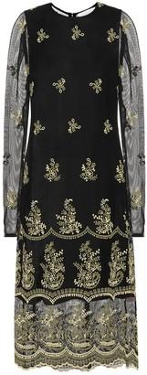 Chloé Embroidered midi dress