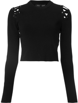Proenza Schouler Lace Up Cropped Sweater