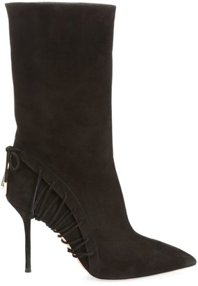 Aquazzura All Mine Lace-Up Suede Boots