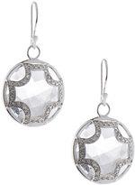 Elizabeth Showers Quartz and Sapphire Maltese Earrings