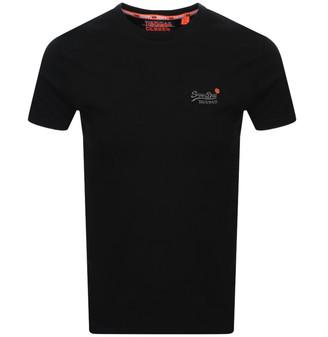Superdry Vintage Short Sleeved T Shirt Black