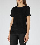 Reiss Rewe Textured T-Shirt