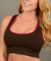 Cocoa & Pink Reversible Sports Bra