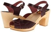 Swedish Hasbeens Peep Toe Super High (Bordeaux) - Footwear