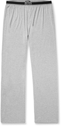 HUGO BOSS Melange Stretch-Modal Jersey Pyjama Trousers - Men - Gray