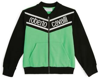 Roberto Cavalli Junior Logo Zip-Up Sweatshirt (4-14 Years)