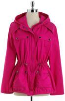 MICHAEL Michael Kors Hooded Cotton Trench Coat