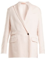 Summa - Oversized Peak-lapel Jacket - Womens - Light Pink