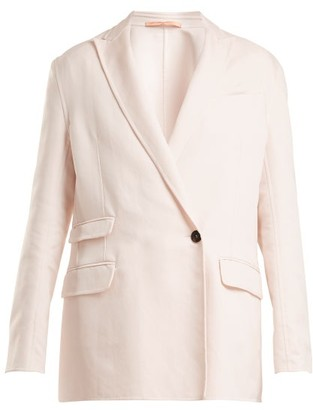 Summa - Oversized Peak-lapel Jacket - Light Pink