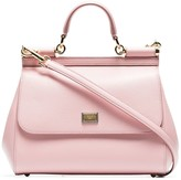 Dolce & Gabbana pink Sicily medium leather tote