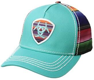 Ariat Serape Logo Shield Ball Cap (Turquoise/Multi) Caps