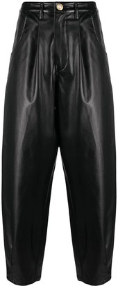 Amen Faux Leather Trousers