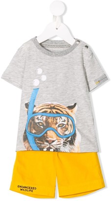 Lapin House Tiger Printed Two-Piece Set